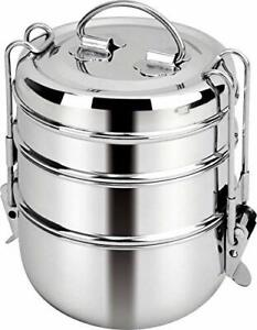 Stainless Steel Tiffin Box, Lunch Box, Lunch Boxes (3 Tier)