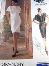 Vogue Paris Original Dress w Capelet Givenchy Vintage  2303 size 6 8 10 Uncut
