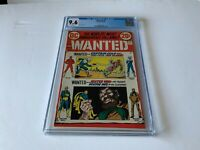 WANTED 8 CGC 9.6 WHITE PGS DR FATE FLASH CAPTAIN COLD MISTER WHO DC COMICS 1973