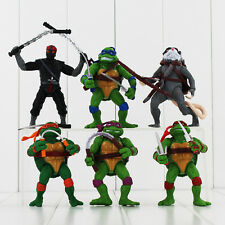 6 Big TMNT Ninja Turtle Action Figure Kid Figurines Cake Topper Decor Toy