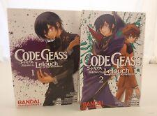 Code Geass: Lelouch of the Rebellion Lot Volumes 1-2 Bandai Entertainment Sun...