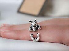 Adjustable Antique Silver Rhino Ring