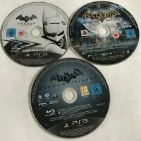 3 x Batman PS3 Playstation 3 Games Disc Bundle Arkham City Asylum Origins