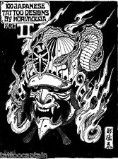 100 Japanese Tattoo Designs by Horimouja Part B Flash Book Scan JPG Files on CD