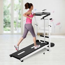 Folding Manual Treadmill Running Machine Cardio Fitness Exercise Incline