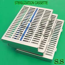5 Dental Autoclave Sterilization Cassette Rack Box Tray For 20 Instrument