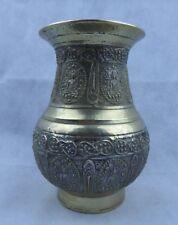 More details for nepalese antique bronze ceremonial amkhora vase with buddhist designs fine