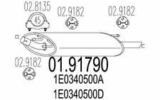 MTS Silenziatore posteriore per FORD FIESTA 01.91790 - Auto Pezzi Mister Auto