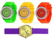 4er Set Cheeky Uhren farbig sortiert,Armbanduhren, Silikonarmband, Quarzuhrwerk
