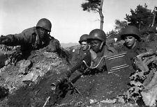 Enmarcado impresión de-Guerra de Corea soldados de la División de Infantería de 2nd de EE. UU. 1950