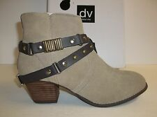Dolce Vita DV Size 8 M Jacy Taupe Suede Ankle Boots New Womens Shoes