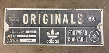 Adidas Originals Three Stripes Sneaker Track Shoes Vintage Poster Ad Metal Sign