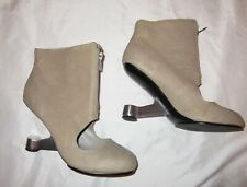 UNITED NUDE PARKA EAMZ STONE tan ankle front zip boots shoes 37 6.5 7