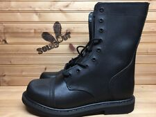 New Rothco Military Leather Combat Boots sz 8 Black Steel Shank 5075 SC