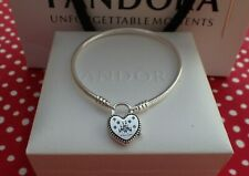 Authentic Pandora Bracelet, Disney Parks Castle Locket,Heart Shaped  20cm=7.9""