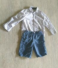 . Boys' long Sleeve Shirt and Shorts , size 4T