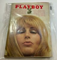 Vintage Playboy Magazine - December 1969 - Centerfold Fully Intact - Rare Miscut