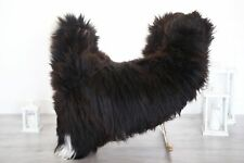 Real Natural English SHEEPSKIN RUG Fur Throw Genuine Sheep Skin Brown #1sheb32