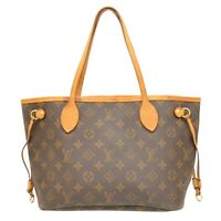 Louis Vuitton Neverfull PM M40155 Monogram Shoulder Tote Hand Bag Purse Brown LV