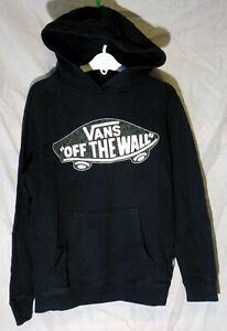 Boys Vans Black Off The Wall Skateboard Hooded Sweater Hoodie Age 11-12 Years
