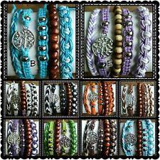 Wholesale set of  50 adjustable cotton friendship boho tree of life bracelets