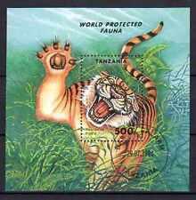 Animaux Tigre Tanzanie (43) bloc oblitéré