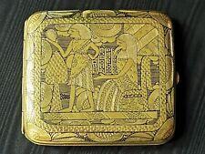 More details for stunning antique japanese komai style damascene egyptian revival cigarette case
