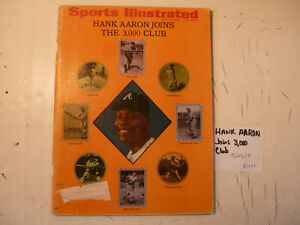 5/25/70 Sports Illustrated SI MLB Braves Hank Aaron 3000 Hits Pontiac Uncer