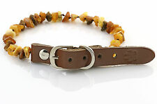 Raw Baltic Amber Anti-Tick Anti Flea Dog Collar Necklace 25-30cm / 9.7-11.7""