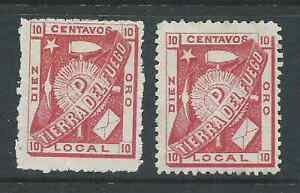 TIERRA DEL FUEGO CHILE LOCAL POST X 2 SEE BOTH SCANS FOR CONDITION