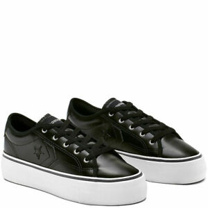 Converse Women's One Star Replay HI PLATFORM Low Top Black Trainers Many Sizes