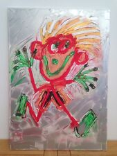 Original Contemporary Painting - CHEEKY MONKEY by Keith Browning / 42x59cm