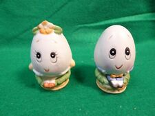 Vintage Lefton Mr. and Mrs. Humpty Dumpty Eggs Salt and Pepper Shakers