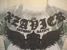 AXR Xzavier Patron Saint Eagle Phoenix Soft Thin Light Gray White T Shirt M