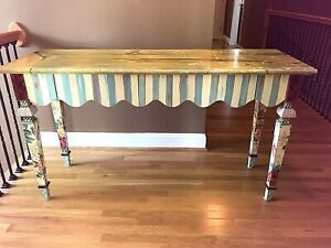 Mackenzie Childs Vintage Marble Entry Table