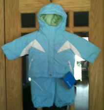 $125 NWT 6 Month 6M Infant Girls Columbia Snow Fairy II 2-pc Snow Suit bib Set