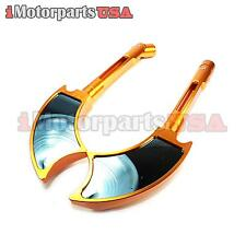 HONDA CBR 600 F3 F4 F4I 900RR 1000RR REARVIEW SIDE MIRRORS BLUE GLASS ANODIZED