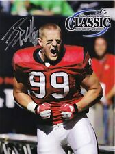 JJ Watt Autograph 8 by 10 photo Houston Texans Defensive Player of the Year