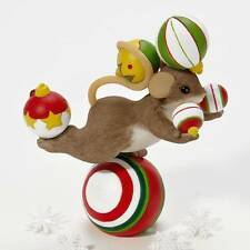 Charming Tails 4023656 Holidays Can Be Balancing Act 2011 Nib Mouse on Ornaments