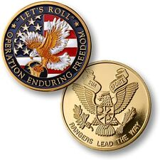 """Let's Roll"" Army Rangers Challenge Coin Operation Enduring Freedom OEF 2001 US"