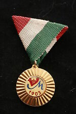 Rare Hungary Hungarian Medal 1903 Ferruginous Artist Collective Dance Communist