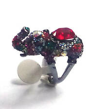 Butler and Wilson Multi Crystal Elephant Ring Size P