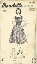 "Vintage Cocktail Dress Sewing Pattern Mau5000 Size Bust 36"""