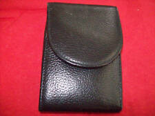 Devian Leather Black Belt Case VG Condition Free Ship USA & CANADA