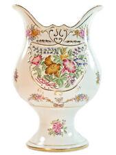 NEW Antique European Bavaria style Porcelain White gold Jar Vase Floral 30cm
