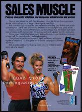 FRANCO COLUMBU__Original 1987 Trade print AD / video fitness promo__HEIDI MILLER
