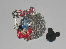 Walt Disney World - Mickey Mouse Fantasia Epcot Enamel Metal Badge pin /BG24