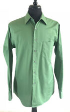 J. Garcia Men's Long Sleeve Button Up M 15 1/2- 34/35 Green Striped Shirt NWOT