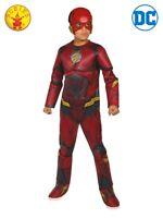 RUBIES Boys Fancy Dress Costume DC Comics Licensed The Flash Deluxe 6096