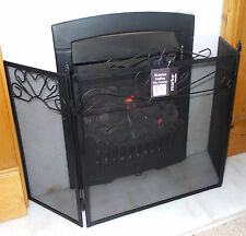 Victorian Fire Screen Fireguard Folding Fireside Safety Vintage Fireplace Guard
